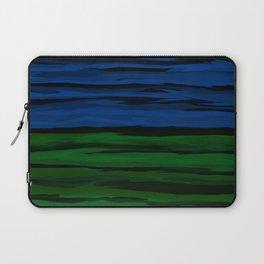 Emerald Green, Slate Blue, and Black Onyx Spilt Laptop Sleeve