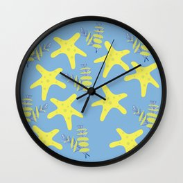 Pattern of sea creatures Wall Clock