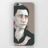tom hiddleston iPhone & iPod Skins featuring Loki (Tom Hiddleston) by xephia