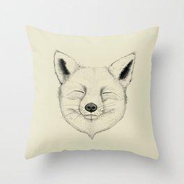 Fox Mood Throw Pillow