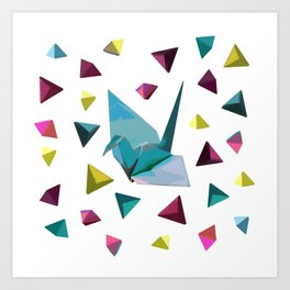 Origami carnival Art Print