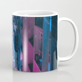 Pink face in the city Coffee Mug
