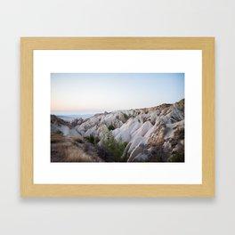 Sunset over the valley in Cappadoccia Framed Art Print