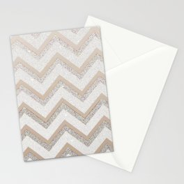 NUDE CHEVRON Stationery Cards