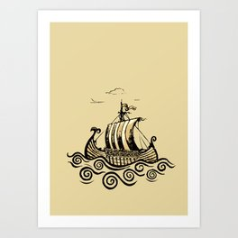 Viking ship 2 Art Print