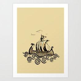Viking ship 2 Art Print