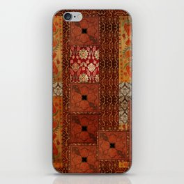 Vintage textile patches iPhone Skin