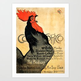 """Théophile Steinlen """"Cocorico"""" Art Print"""