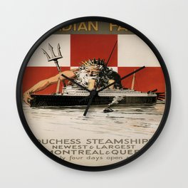 Vintage poster - Canadian Pacific Cruises Wall Clock