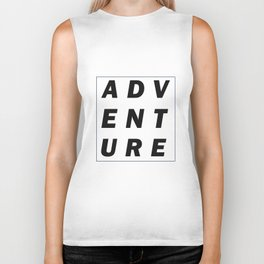 Adventure Typography Biker Tank