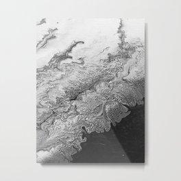 Black & White Angel Wing Metal Print
