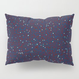 small shapes pattern on the deep background Pillow Sham