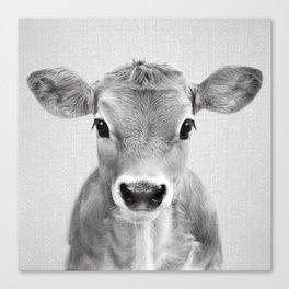 Calf - Black & White Canvas Print