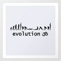 evolution Art Prints featuring evolution by Maria Durgarian