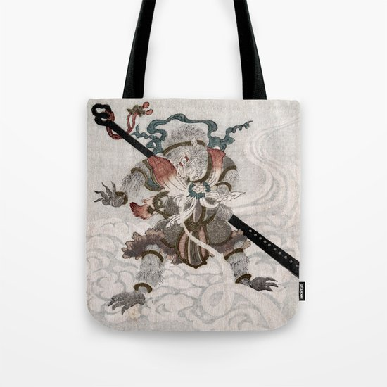 Son Goku, the Monkey King Tote Bag