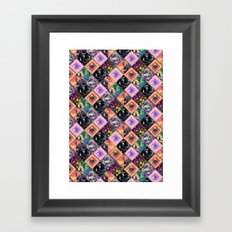 Never Run Away Framed Art Print