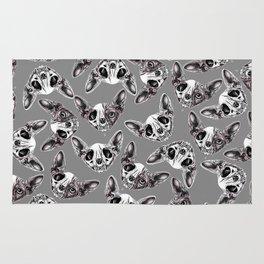 Shynx Half Skull Pattern Rug