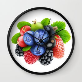 Bunch of berries Wall Clock