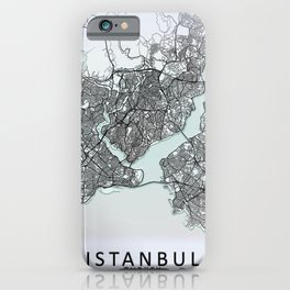 Istanbul, Turkey, White, City, Map iPhone Case