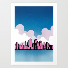Getting Married In New York Art Print