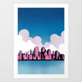 Getting Married In New York Art Print