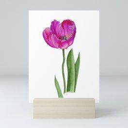 Cerise Pink Tulip Flower Mini Art Print