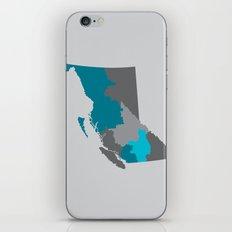 British Columbia Map Print iPhone & iPod Skin