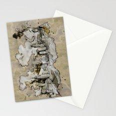 Cottbus Monument Skyline Illustration by carographic, Carolyn Mielke Stationery Cards