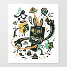 Little Black Magic Rabbit Canvas Print