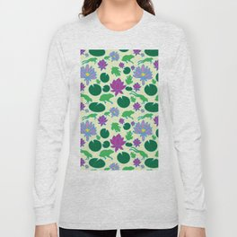 Jumping Frogs of Lily Pad Valley Long Sleeve T-shirt