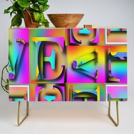 Alphabet Letters Credenza