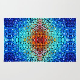 Inner Vision - Colorful Spiritual Abstract Art By Sharon Cummings Rug