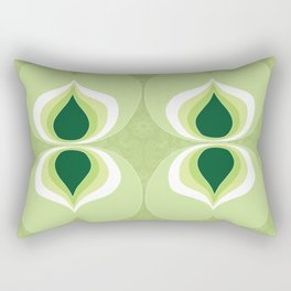 1960`s inspired abstract geometric pattern Rectangular Pillow
