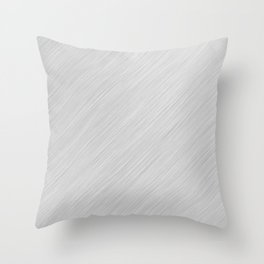 Abstract white noise - a simple striped pattern Throw Pillow