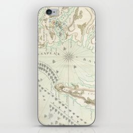 Vintage Map of The Battle of Yorktown (1781) iPhone Skin