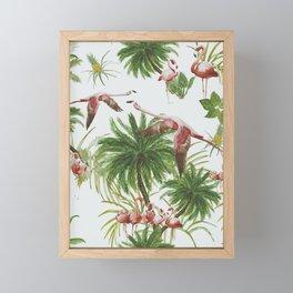 Tropical island of flamingos I Framed Mini Art Print