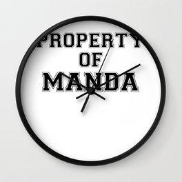 Property of MANDA Wall Clock