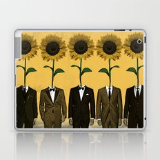 Sunflowers In Suits Print Laptop & iPad Skin