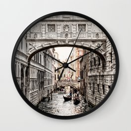 Bridge of Sighs, Venice, Italy (Lighter Version) Wall Clock
