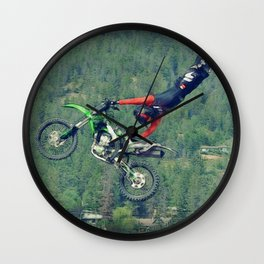 MotoCross King Wall Clock