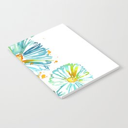 Lakeside Watercolour Blue Daisies Notebook