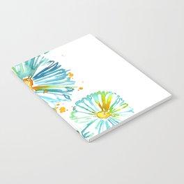 Lakeside Watercolour Blue Daisies Notebook