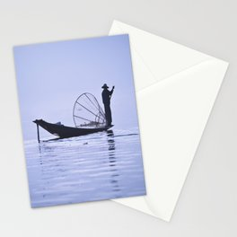 FISHERMAN AT INLE LAKE II Stationery Cards