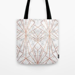 Art Deco Marble & Copper - Large Scale Tote Bag