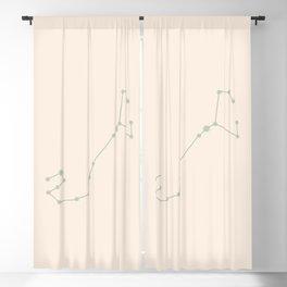 Scorpio Zodiac Constellation Sage Blackout Curtain