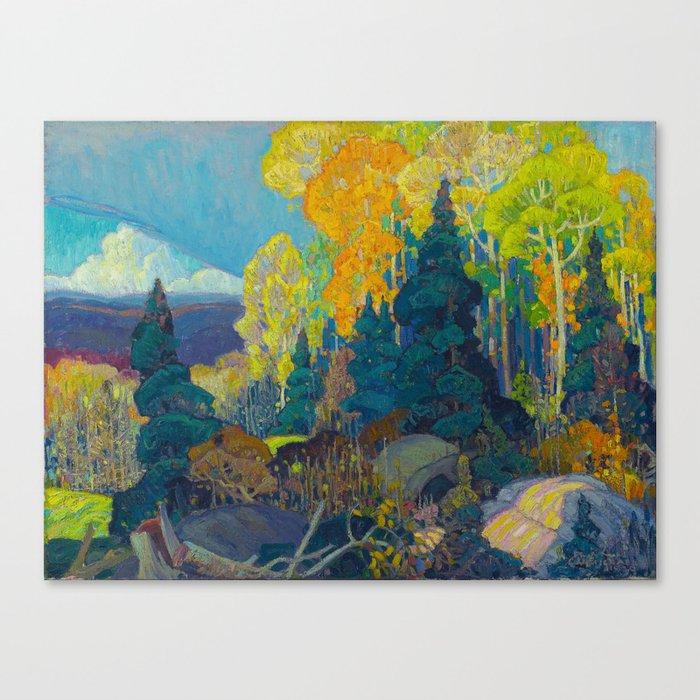Canadian Landscape Franklin Carmichael Art Nouveau Post-Impressionism Autumn Hillside Leinwanddruck