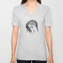 women skull  Unisex V-Neck