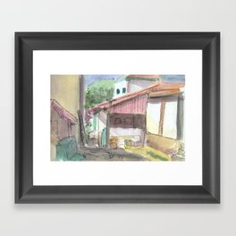 Colonial House Framed Art Print
