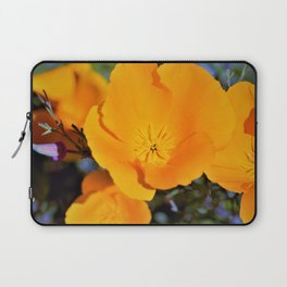 California State Poppy in Bloom by Reay of Light Photography Laptop Sleeve