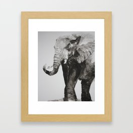 Marching Elephant Framed Art Print